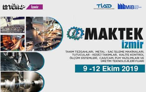9-12 Ekim Tarihlerinde İzmir Maktek Fuarındayız